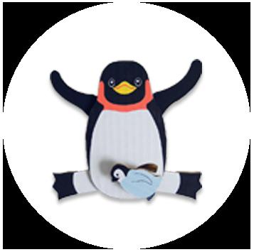 ペンギンのあやつり人形