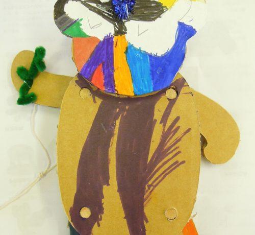 ダンボールの人形
