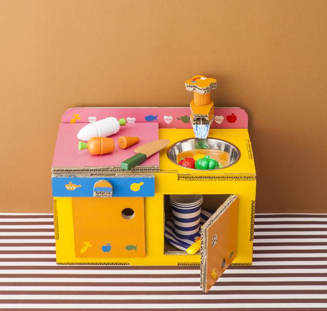 キッチン:ダンボールで作れるかわいいキッズ家具&おもちゃ