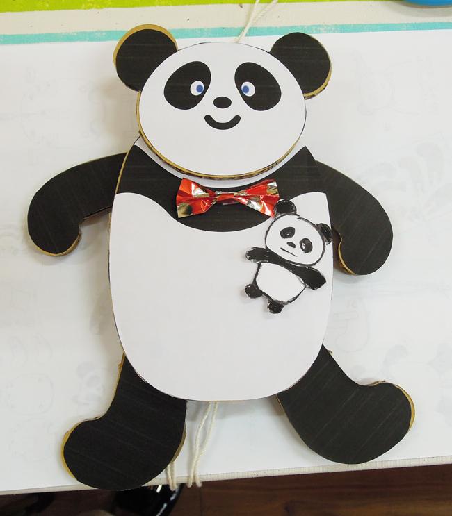 パンダのあやつり人形