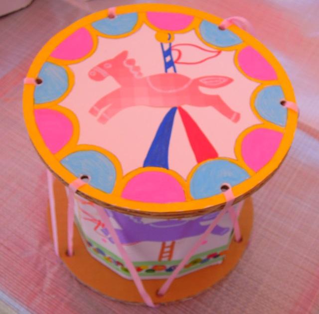 ダンボールドラム作り