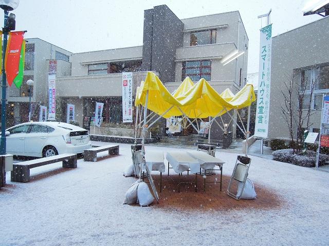 鳩ケ谷住宅公園のイベントは雪