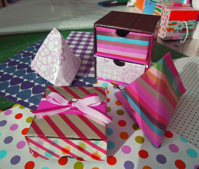 バレンタインのパッケージ作り